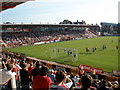 SX9293 : Exeter City take a corner by Roger Cornfoot