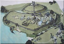 TL2471 : Display Board of Huntingdon Hill Motte and Bailey Castle by Duncan Grey