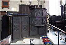 SE3766 : St Mary, Roecliffe, North Yorkshire - Pulpit by John Salmon