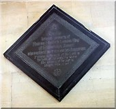 SE3766 : St Mary, Roecliffe, North Yorkshire - Memorial by John Salmon