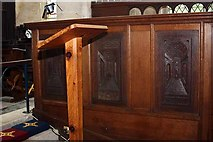 SE3766 : St Mary, Roecliffe, North Yorkshire - Stalls by John Salmon