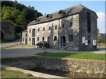 SX4268 : Old warehouse, the quay, Cotehele by Roger Cornfoot