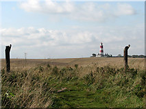 TG3930 : Clifftop path to Happisburgh by Evelyn Simak