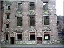 NY0265 : Inside Caerlaverock Castle by Lynne Kirton
