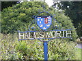 TM3978 : Halesworth Town Sign by Adrian Cable