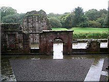 NY0265 : Caerlaverock Castle: the inner court by Lynne Kirton