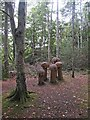 G7133 : Toadstool sculpture at Hazelwood Demesne by Oliver Dixon