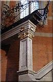 TQ3480 : St Peter's London Docks, Wapping Lane - Font cover hoist by John Salmon