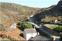 SW6813 : Landewednack: valley above Kynance Cove by Martin Bodman