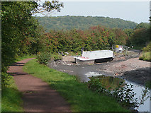 SO8785 : Stourbridge Canal empty near Middle Bridge by Roger  Kidd