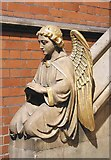 TQ3480 : St Peter's London Docks, Wapping Lane - Angel in baptistery by John Salmon