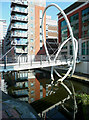 SP0687 : Contemporary footbridge over  the canal, Birmingham by Roger  Kidd