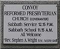 C2201 : Plaque, Convoy Ref Church by Kenneth  Allen