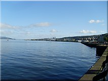 NS2876 : The waterfront at Greenock by Stephen Sweeney