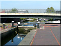 SP0788 : Lock No 18 and Waterlinks Bridge, Aston by Roger  Kidd
