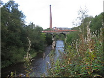 SJ9398 : River Tame near Ashton-Under-Lyne by Chris Wimbush