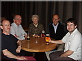 TQ3083 : Geograph meet at Kings Place, Kings Cross by Bar staff for David Hawgood