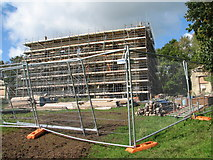 ST5295 : Chepstow - Piercefield House under scaffolding by Roy Parkhouse