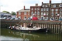 TF3243 : Saracen moored at Doughty Quay by Richard Croft