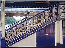 SX9193 : Painted staircases, St David's station, Exeter by Derek Harper