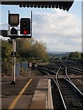 SX9193 : Railway tracks, St David's station, Exeter by Derek Harper