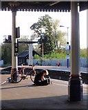 SX9193 : Waiting for the train, Exeter St David's by Derek Harper